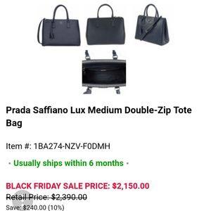 5c35c1a6a988 Prada Bags - 💜Prada Saffiano Baltic Blue Leather Tote Bag💜